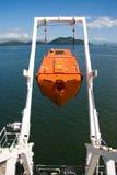 Libere el bote salvavidas de la caída Imagen de archivo libre de regalías