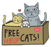 Libere el gato ilustración del vector