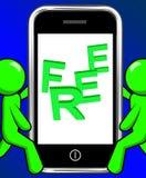 Libere en regalo de promoción de las exhibiciones del teléfono gratis y la promoción ilustración del vector