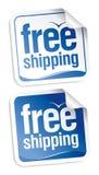 Libere las etiquetas engomadas del envío. Foto de archivo