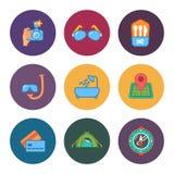 Libere los iconos del viaje Fotografía de archivo libre de regalías