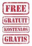 Libere los sellos Foto de archivo libre de regalías
