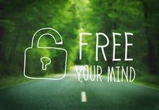 Libere su concepto de la actitud de la conciencia de la mente fotografía de archivo libre de regalías
