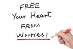 Libere su corazón de preocupaciones Foto de archivo libre de regalías
