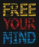 Libere su imagen gráfica del vector de la camiseta del Grunge de la mente Foto de archivo libre de regalías
