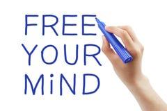 Libere su mente Imágenes de archivo libres de regalías