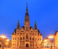 Liberec at night Stock Photo