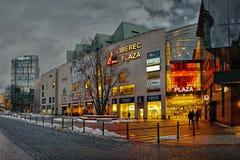 Liberec, república checa - 20 de janeiro de 2018: Armazém da plaza de Liberec no Dr. de Namesti Quadrado do pavimento de Benese d Fotos de Stock Royalty Free