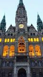 Liberec stadshus i den Liberec Tjeckien Royaltyfri Foto
