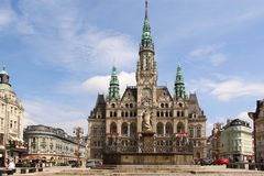 Liberec Town Hall in Czech Republic Stock Images