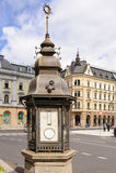 Liberec weather station column Royalty Free Stock Photo