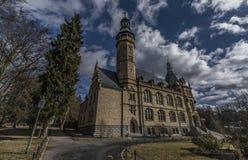 Liberecmuseum in de winter zonnige dag Stock Afbeelding