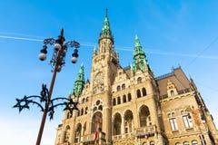 LiberecRathaus in der Tschechischen Republik Stockfotografie