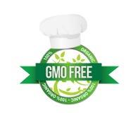 Liberi geneticamente modifica il segno delle piante Fotografie Stock Libere da Diritti