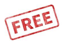 Liberi il bollo - guarnizione rossa di lerciume royalty illustrazione gratis