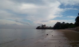 Liberi la mente alla spiaggia affascinante Immagini Stock