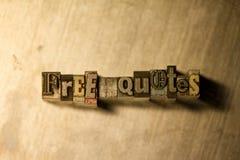 Liberi le citazioni - segno dell'iscrizione dello scritto tipografico del metallo Immagine Stock