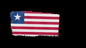 Liberia flag painted with a brush stroke stock illustration