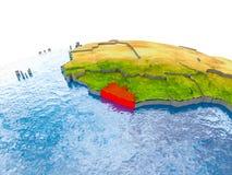 Liberia auf Modell von Erde Stockbilder