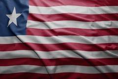 Liberia bandery Zdjęcie Stock