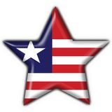 Liberia button flag star shape Royalty Free Stock Image