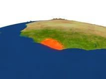 Liberia en rojo de la órbita libre illustration