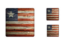 Liberia Flag Buttons Stock Images
