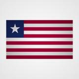 Liberia flag on a gray background. Vector illustration Stock Photo