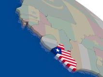 Liberia with flag Stock Photos