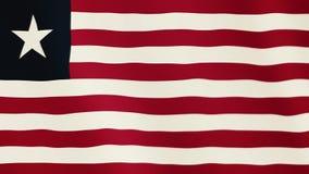 Liberia flaga falowania animacja Pełny ekran Symbol kraj royalty ilustracja