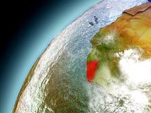 Liberia från omlopp av modellen Earth Royaltyfri Bild