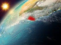 Liberia op aarde in zonsondergang Royalty-vrije Stock Fotografie