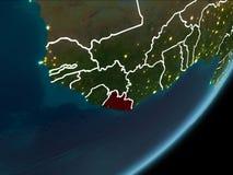 Liberia op nachtaarde Stock Afbeeldingen