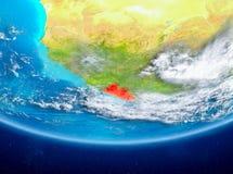 Liberia på jordklotet från utrymme Arkivbilder