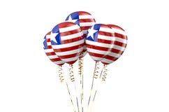 Liberia patriotic balloons Royalty Free Stock Photography