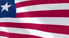 Liberia realistic flag animation. royalty free illustration