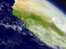 Liberia, Sierra Leone and Guinea from space Royalty Free Stock Photos