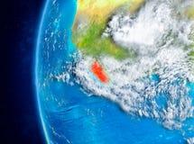 Liberia ter wereld van ruimte Royalty-vrije Stock Foto's