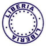 LIBERIA texturizado rasguñado alrededor del sello del sello libre illustration