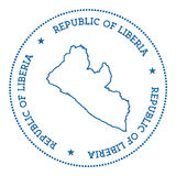 Liberia vector map sticker. Stock Photos