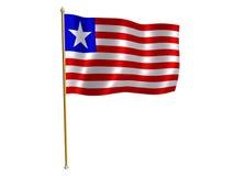 Liberiaanse zijdevlag Stock Fotografie