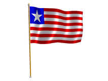 Liberian silk flag Stock Photography