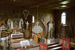 Liberk, Czech republic. Interior of wooden church in village Liberk, Eastern Bohemia, Czech republic Royalty Free Stock Photos