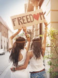 Libertà! Fotografia Stock