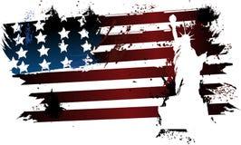 Libertà americana della bandiera di lerciume Immagini Stock