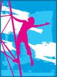 Libertà in azzurro & nel colore rosa Immagini Stock Libere da Diritti
