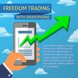 Libertà che vende con modello di Smartphone Immagini Stock Libere da Diritti