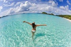 Libertà del bikini della donna Immagini Stock