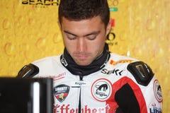 Libertà del Maxime Berger Ducati 1098R Effenbert fotografia stock libera da diritti