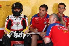 Libertà del Maxime Berger Ducati 1098R Effenbert fotografie stock